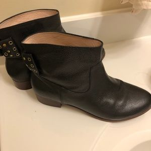 Kate Spade Bow Booties Black Leather